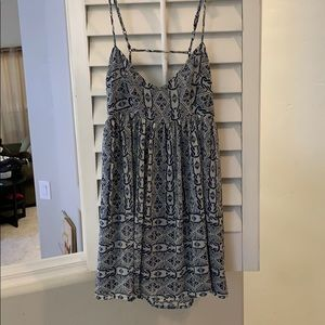 Blue baby doll style dress